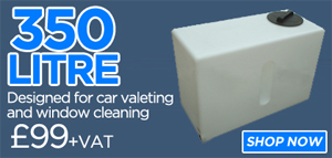 350 litre car valeting water tank
